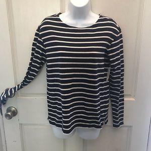 Brand new, never worn navy & white striped top